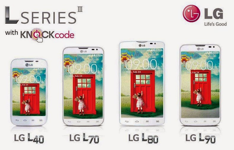 Spesifikasi dan harga LG  L series L40,L70,L80,L90