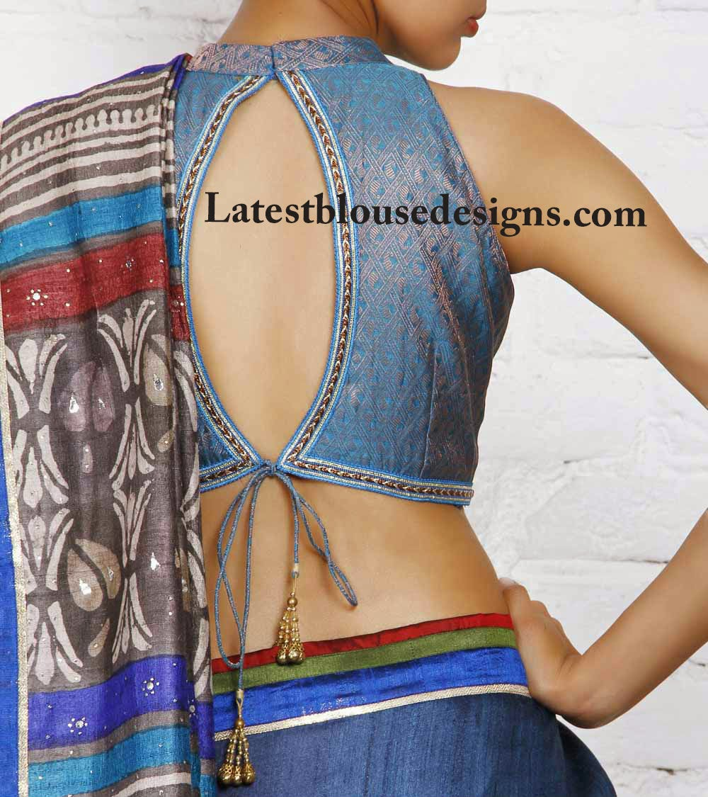 brocade saree blouse