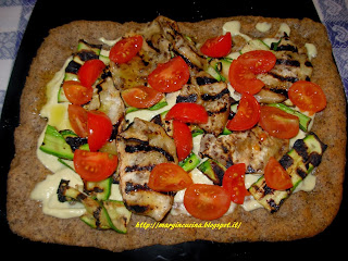 pizza veg con verdure arrostite