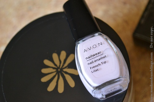 avon french manicure kit lilac tip nail polish notd