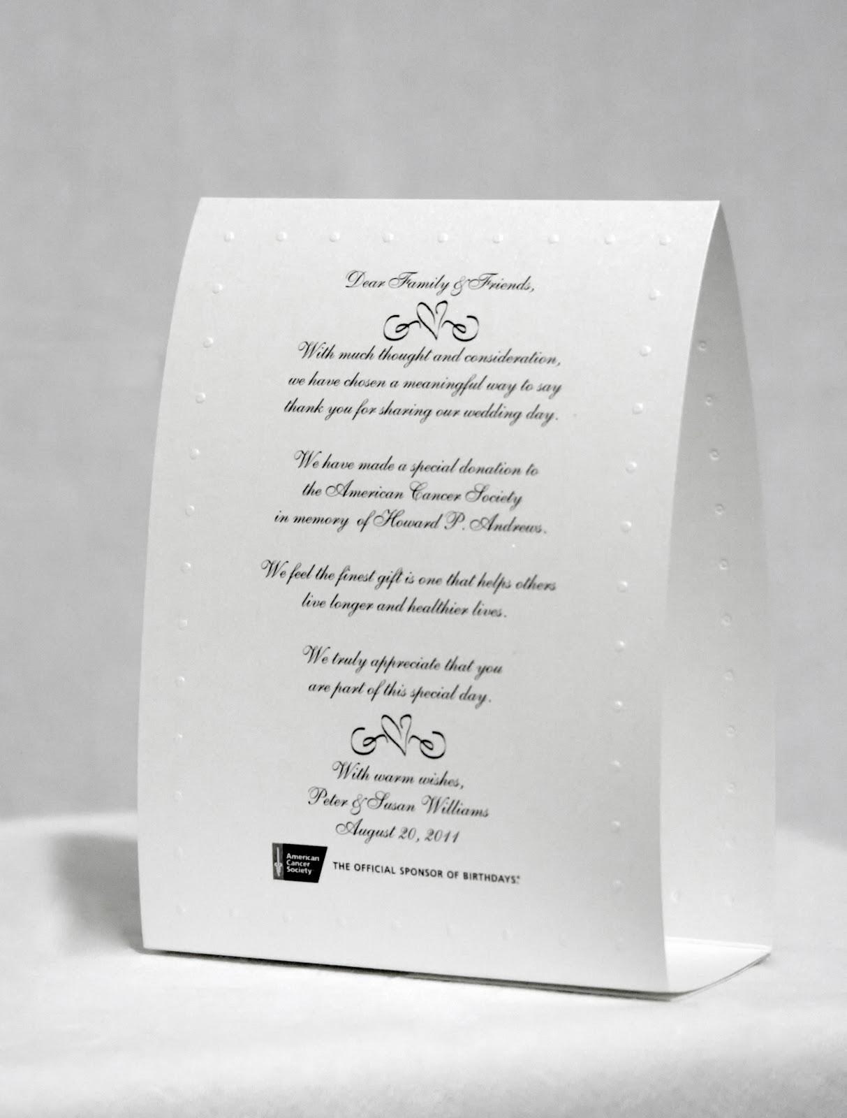 Bridal Bubbly American Cancer Society Wedding Scrolls
