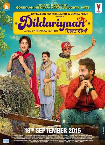 Poster Of Dildariyaan 2015 720p Punjabi HDRip Full Movie