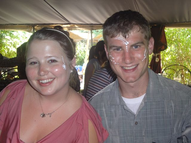 Nellie and Dan at Moyo at Spier.