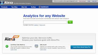 Tampilan Situs Alexa
