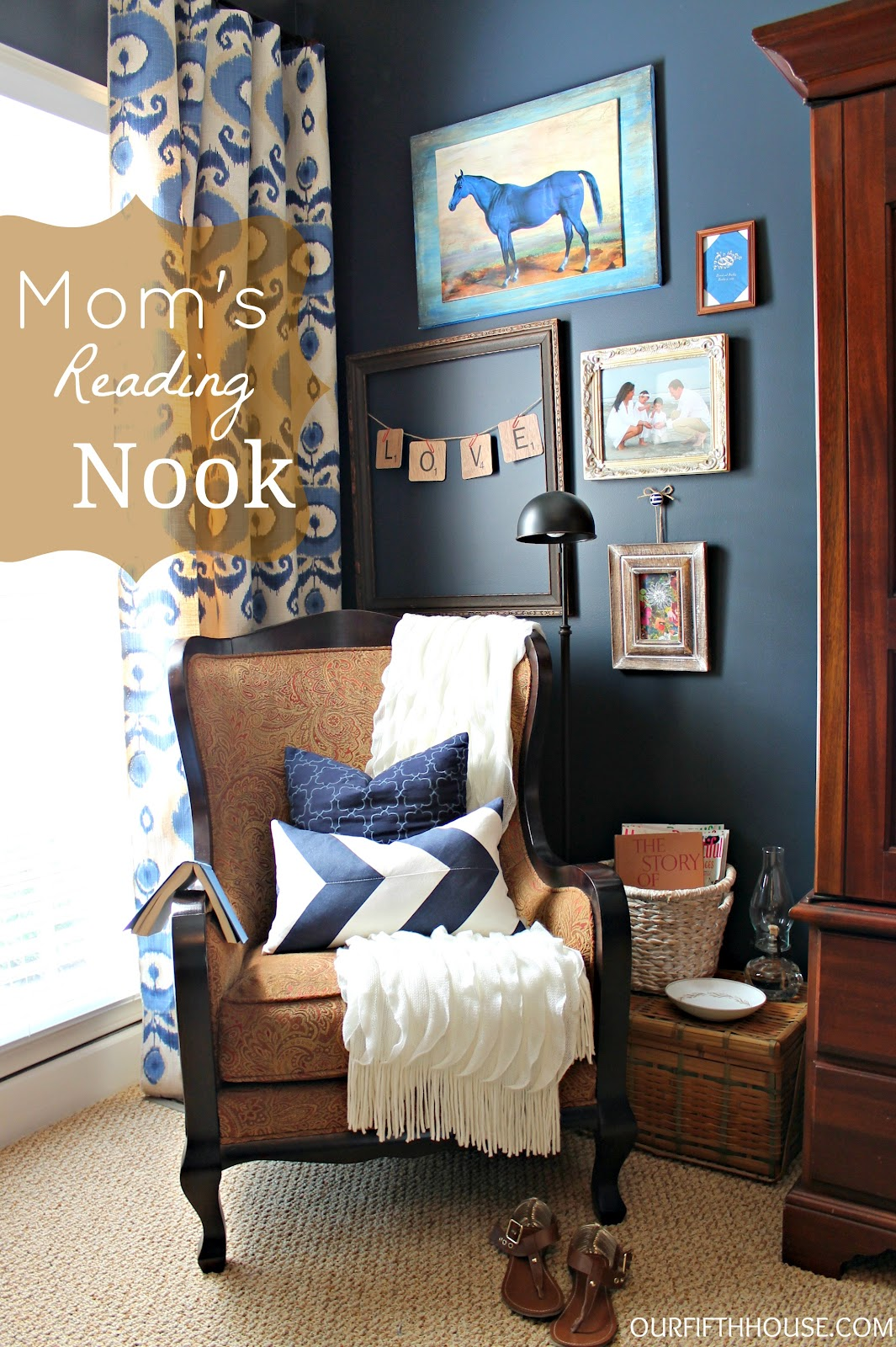 Mom 39 S Reading Nook A K A My New Favorite Corner Of The House Our Fifth House