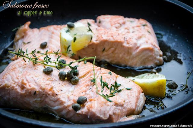 salmone fresco ai capperi e timo super veloce!
