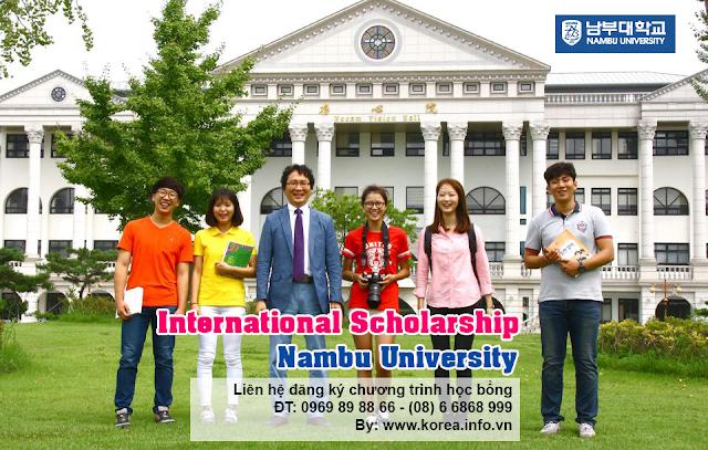 Học bổng 100% học phí Trường đại học Nambu Hàn Quốc