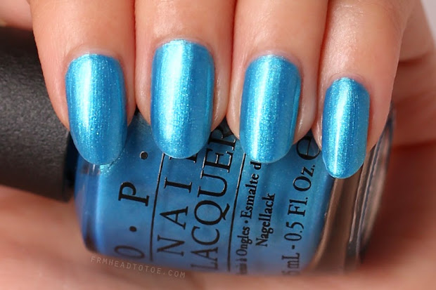 manicure monday opi teal cows