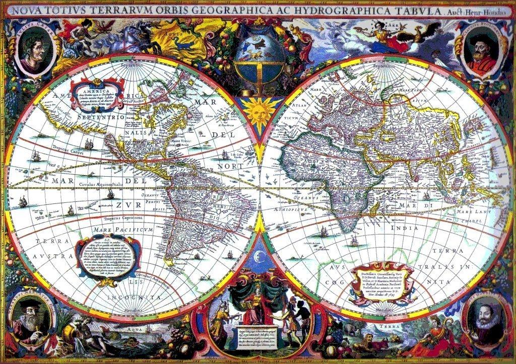 S VIKAS World Map Th Century - 17th century world map