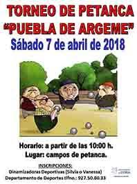 """TORNEO """"PUEBLA DE ARGEME"""""""