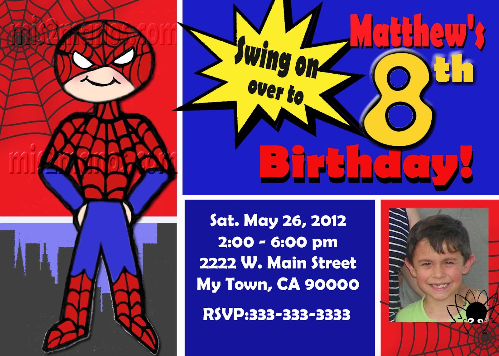 www.etsy.com/listing/100003584/spidey-spider-man-birthday-invitation