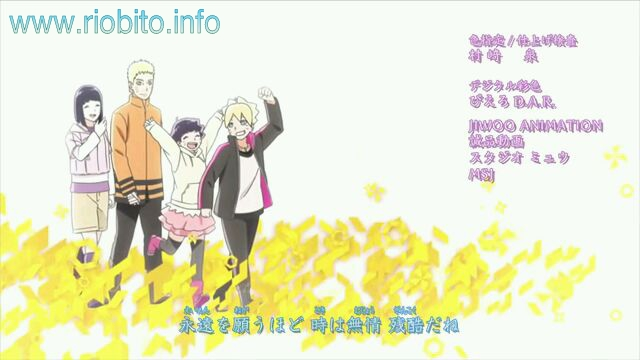 Coala Mode - Kachou Fuugetsu Boruto : Naruto Next Generations ending 5 review download lyric