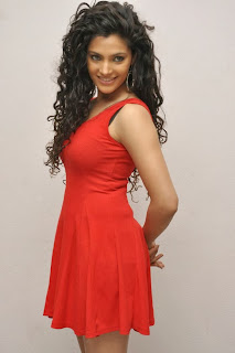 Actress Saiyami Kher  Pictures in Red Short Dress at Rey Movie Trailer Launch  0056.jpg