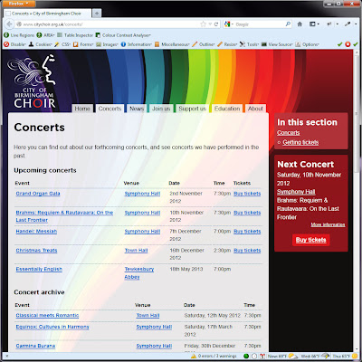 Screen shot of http://www.citychoir.org.uk/concerts/.