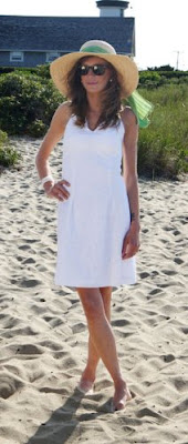 White Eyelet Halter Dress