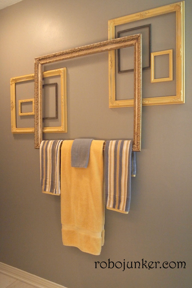 Margo\'s Junkin Journal: Towel Bar from Frames, How to
