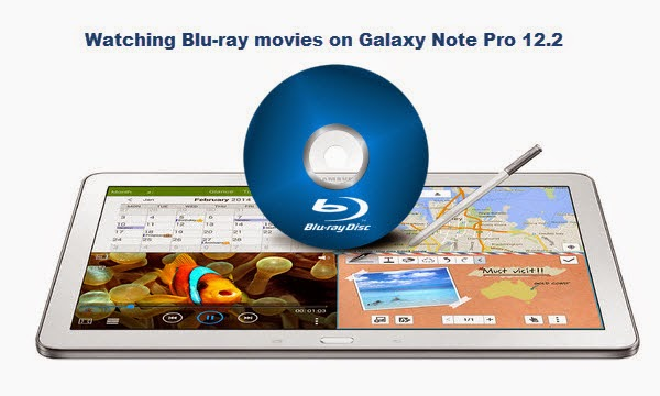 Convert Blu-ray Movies to Galaxy NotePro 12.2 for watching