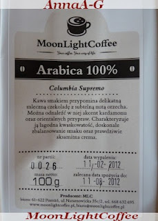 MoonLightCoffee Columbia Supremo- Arabica 100%
