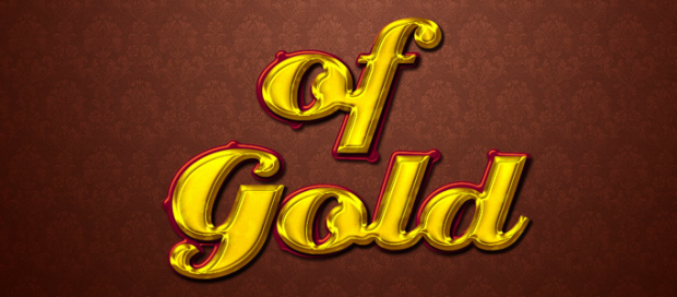 A Nice Shiny Golden Text Effect in Photoshop