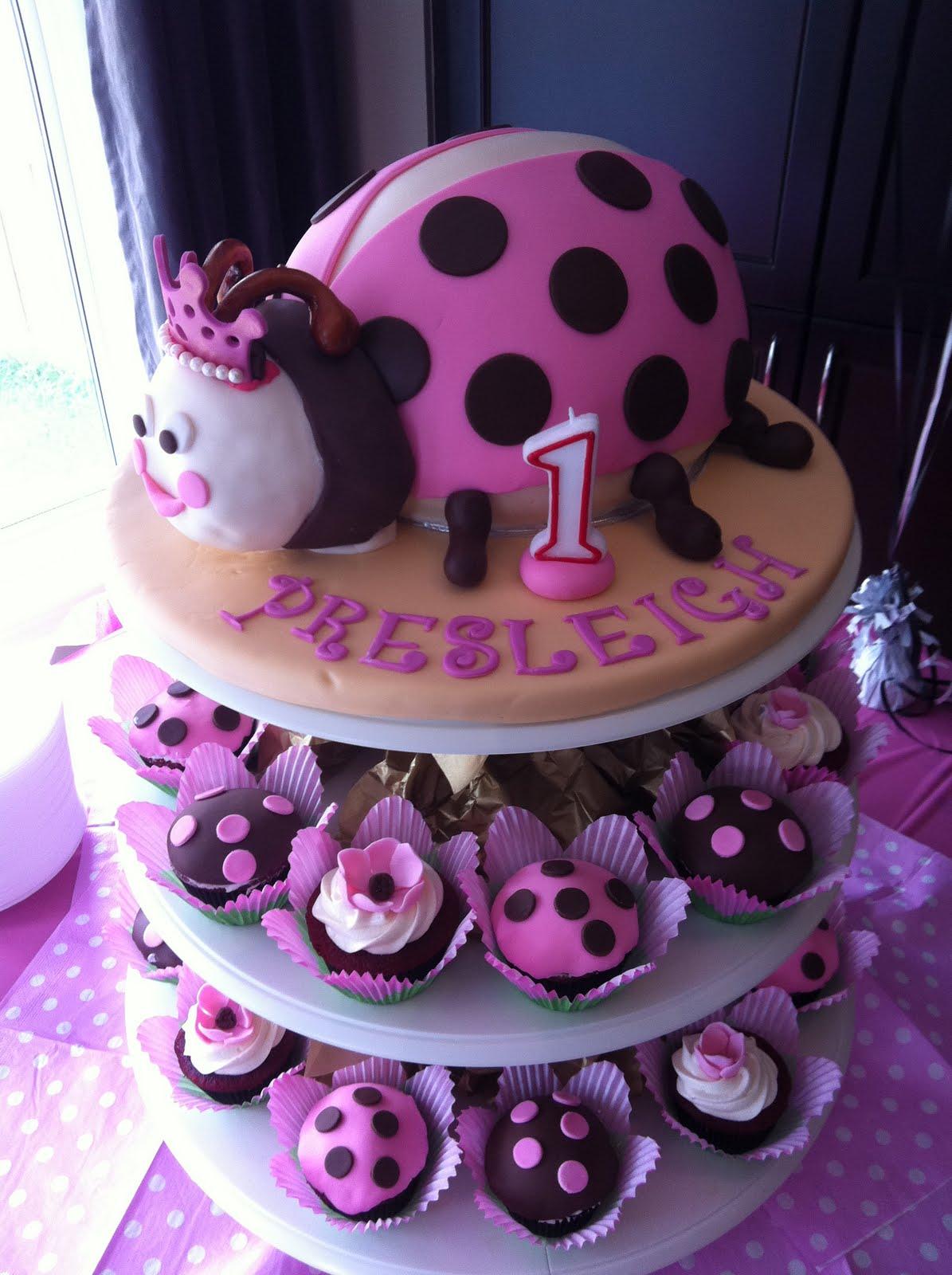 Jocelyns Wedding Cakes And More Ladybug Cupcakesladybug Brown