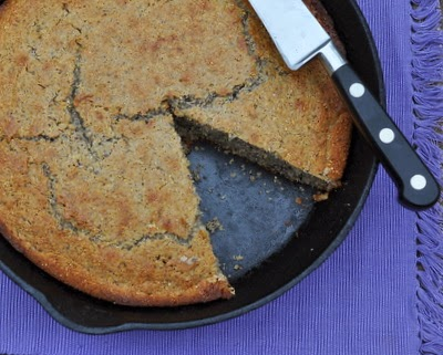 Sweet Cornbread, a classic sweet cornbread with stone-ground cornmeal, honey and cream. A total treat!