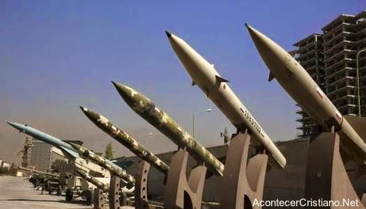 Misiles iraníes amenazan Israel