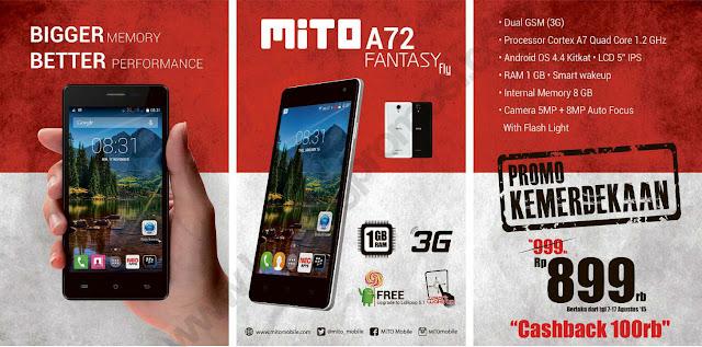 harga dan spesifikasi Mito A72 Fantasy Fly terbaru