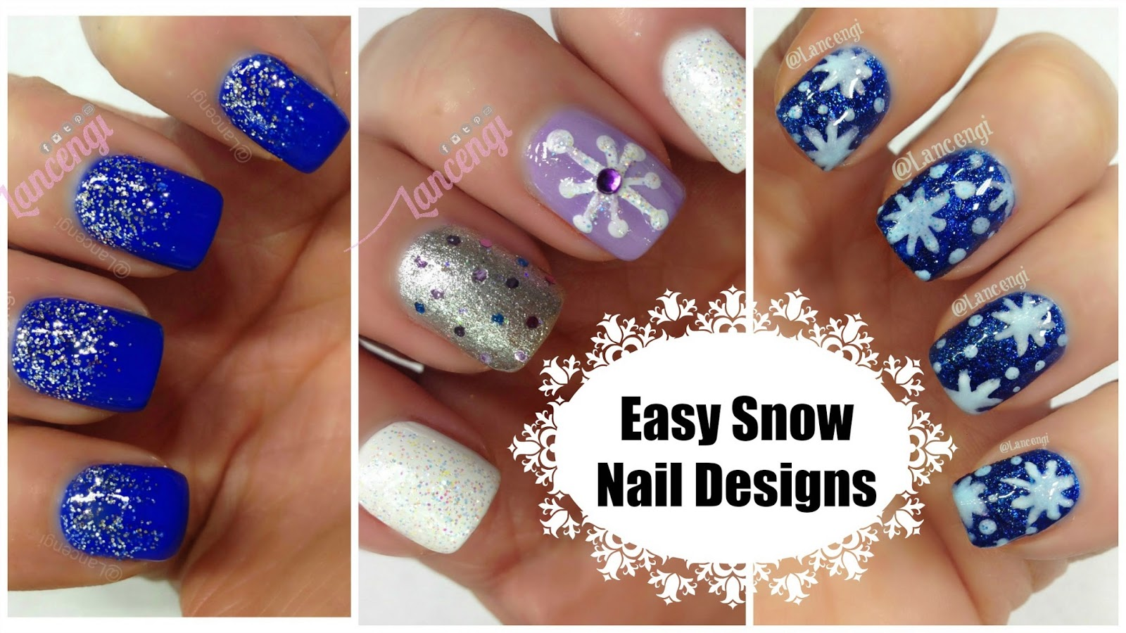 The Ultimate Christmas Guide – 3 Easy Snowflake Nail Design ...