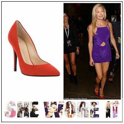 Kate Hudson, Bec & Bridge, Royal Purple, Playsuit, Cut Out Detail, Giuseppe Zanotti, Velvet, Red, Court, Heels