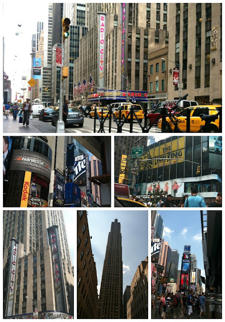 NYC, rockefeller center, broadway, radio city music hall, times square