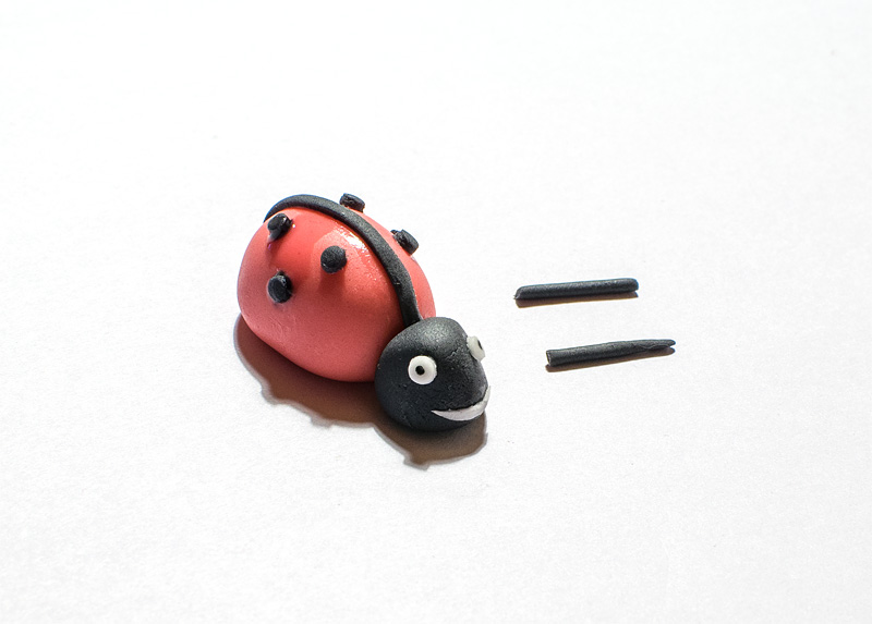 Ladybug fondant figure little antennaes