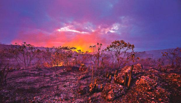 Incêndios continuam em pontos da Chapada (Foto: Brigada de Resgate Ambiental de Lençóis/ BRAL)