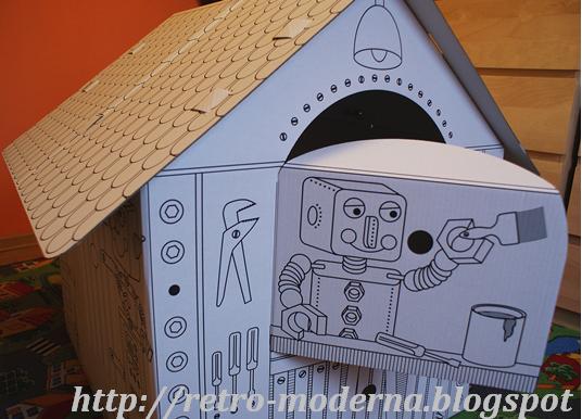 Kartonowy domek dla dzieci z Lidla