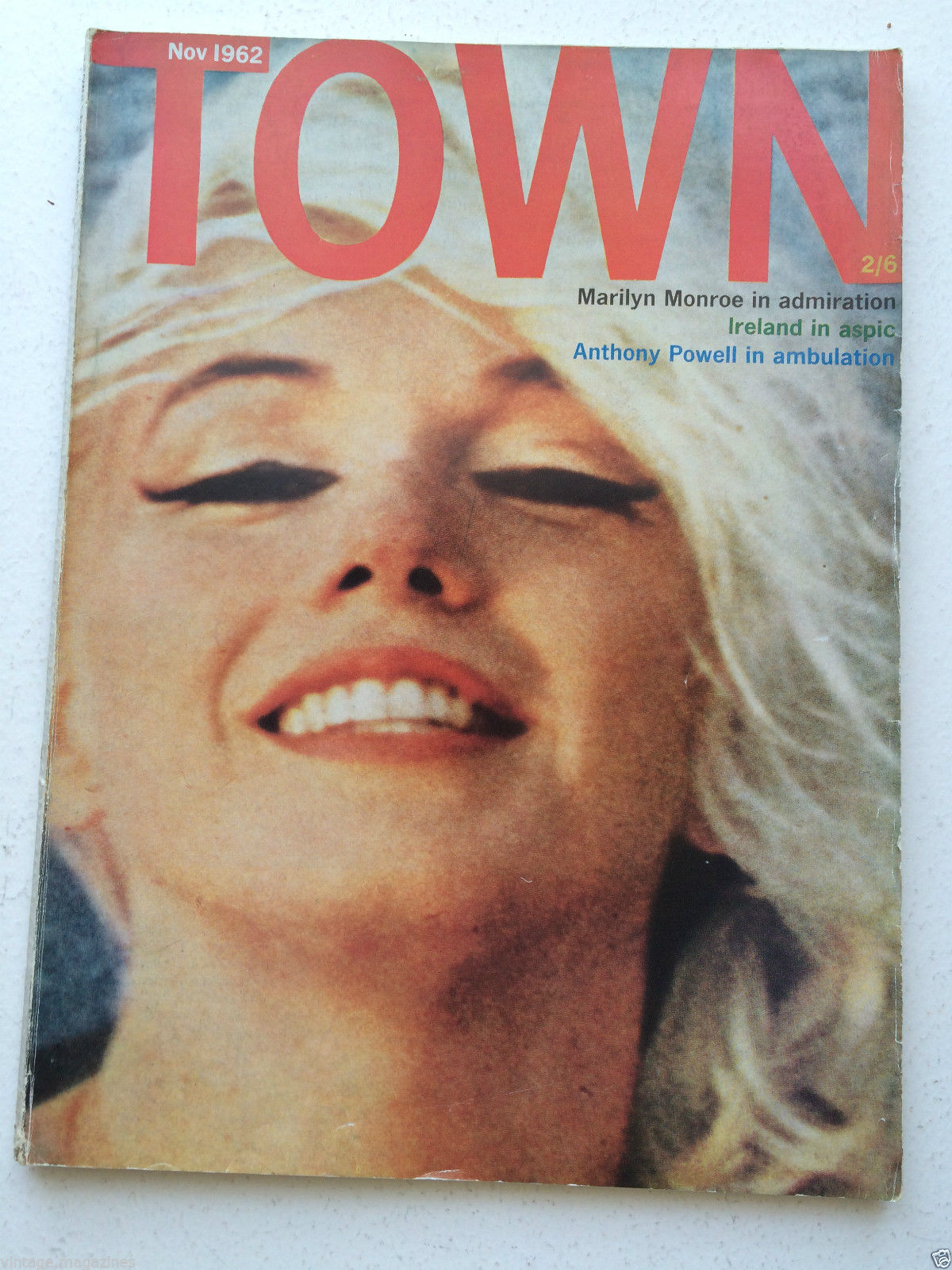 My 1962 TOWN Marilyn cover magazine, when I was 16