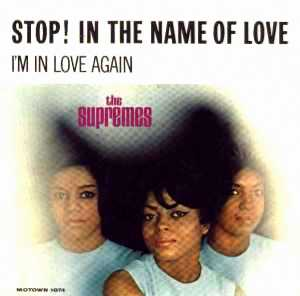 Stop in the name of love vinyl single sleeve