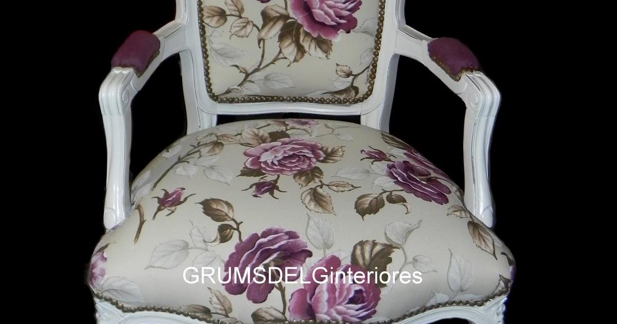 Grumsdelg interiores sillon luis xv floreado - Anticuarios en cordoba ...