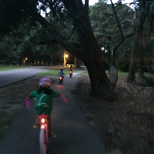 bike riding, shipyard, hilton head, bike lights, 2015, kids on bikes