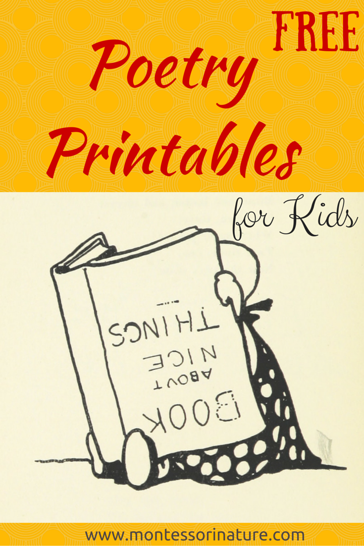 Free Poetry Printable Cards for Kids. - Montessori Nature