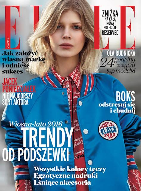 Fashion Model, @ Ola Rudnicka for Elle Poland, March 2016