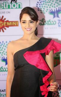 Asmitha Sood in Spicy Micro Mini Skirt at Memu Saitam Dinner with Stars Red Carpet