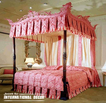 four poster bed canopy, canopy bed, romantic bedroom, luxury canopy bed