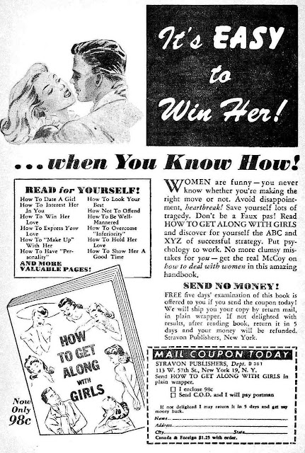 How to attract women comic book advertisement