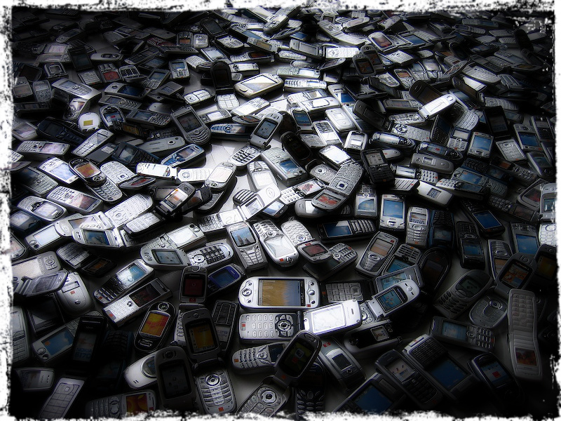Sea of cell phones