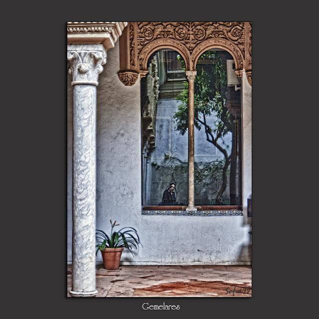 Reflejo en patio de la Casa de los Pinelo