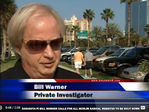 VIDEO: SARASOTA PI BILL WARNER CALLS FOR ALL MUSLIM RADICAL WEBSITES TO BE SHUT DOWN