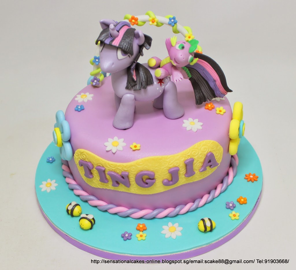 The Sensational Cakes Sugar Crafted Twilight Sparkle And Spike 3d