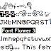 Font Flower 3