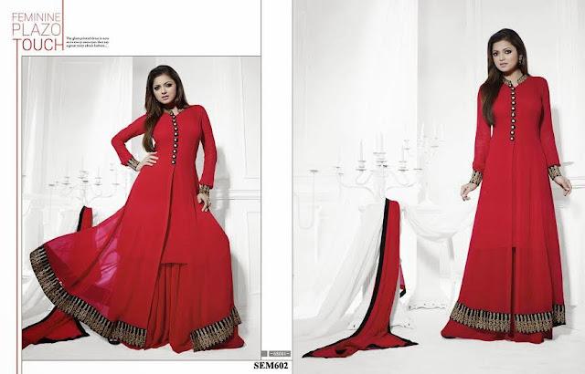Drashti Dhami Designer Long Anarkali Suit