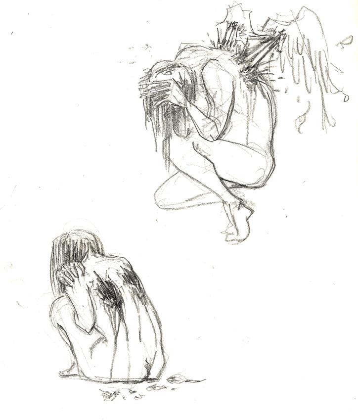 Akinos sketchbook may 2012 a fallen angel i use to draw lots of em back in high school ew so emo altavistaventures Gallery