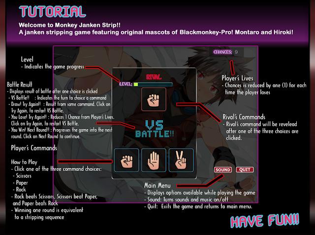 Black Monkey, JANKEN strip, Game Yaoi, CG